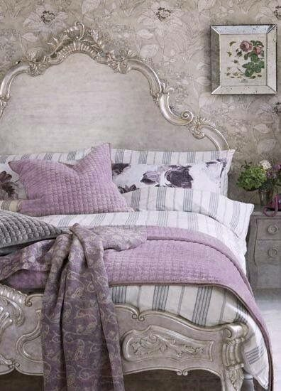 French Grey And Lavender French Inspired Bedroom Silver Bedroom Remodel Bedroom