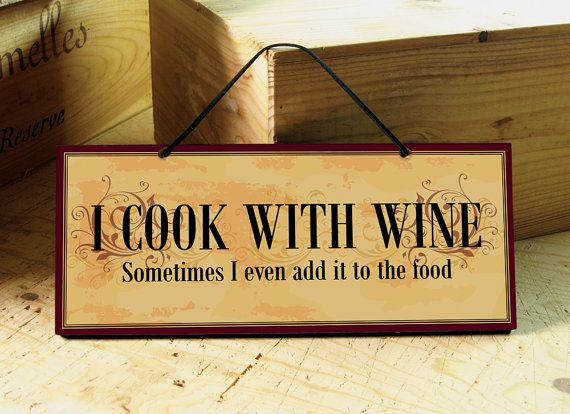 Decorative Wall Sign with Funny Wine Saying Wine by AbeloClocks ...