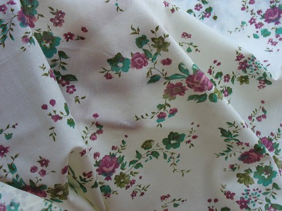 Beautiful lightweight floral fabric! See LOTS more at www.thefabricscore.etsy.com