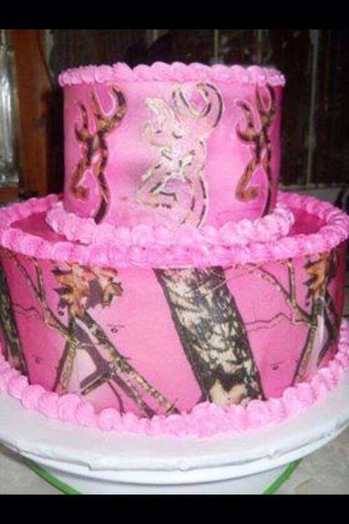 Pink Camo Browning Cake Cakes Pinterest My Birthday