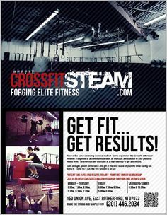 Crossfit Gym Leaflet  Google Search  Gym Design