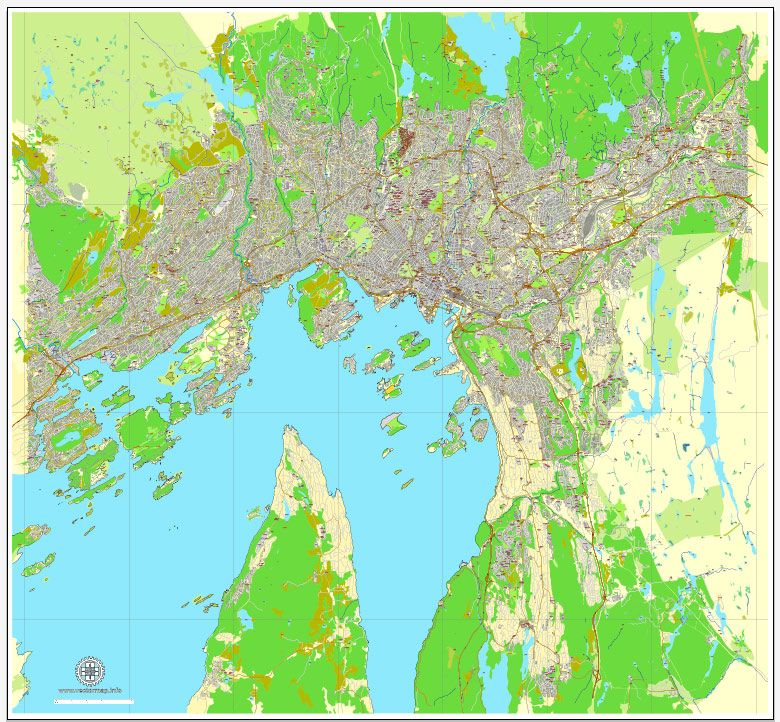 Oslo norway printable vector street map exact city plan v2 full oslo norway printable vector street map exact city plan v2 full editable adobe pdf gumiabroncs Image collections