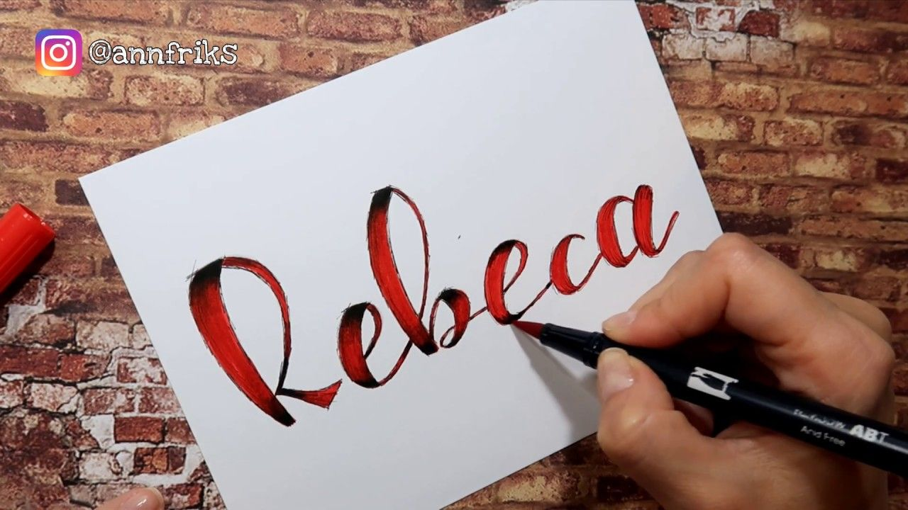 Lettering Dibujo Tu Nombre En Un Minuto Rebeca Graffitis Nombres Dibujarte Nombres Creativos