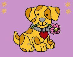 desenhos de cachorrinhos coloridos com flores - Pesquisa Google