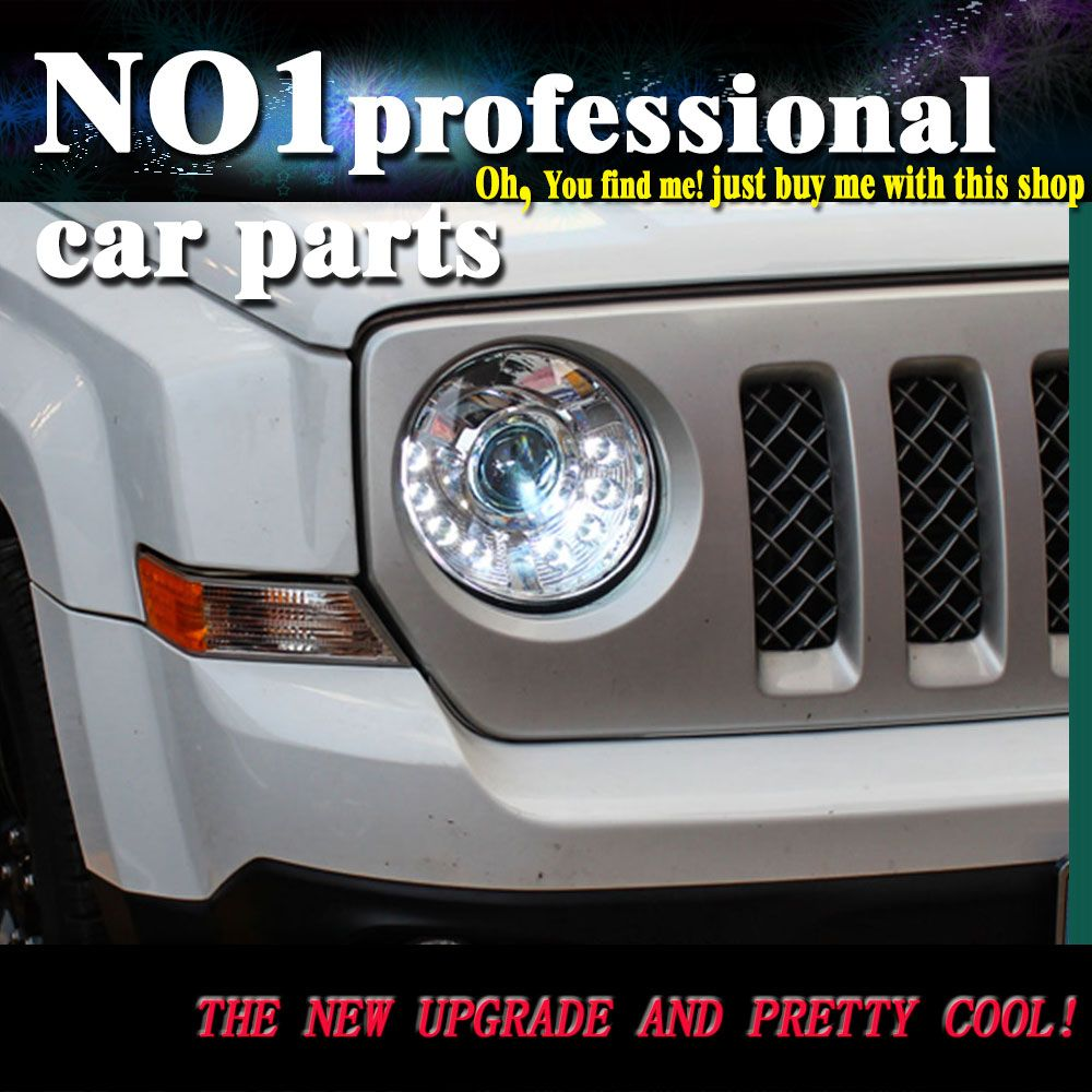 Car Styling For Jeep Patriot Headlights 2010 2014 Head Lamp Led