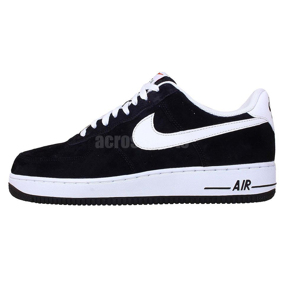 Nike Air Force 1 Black Suede White 2014 Mens Casual Fashion Shoes