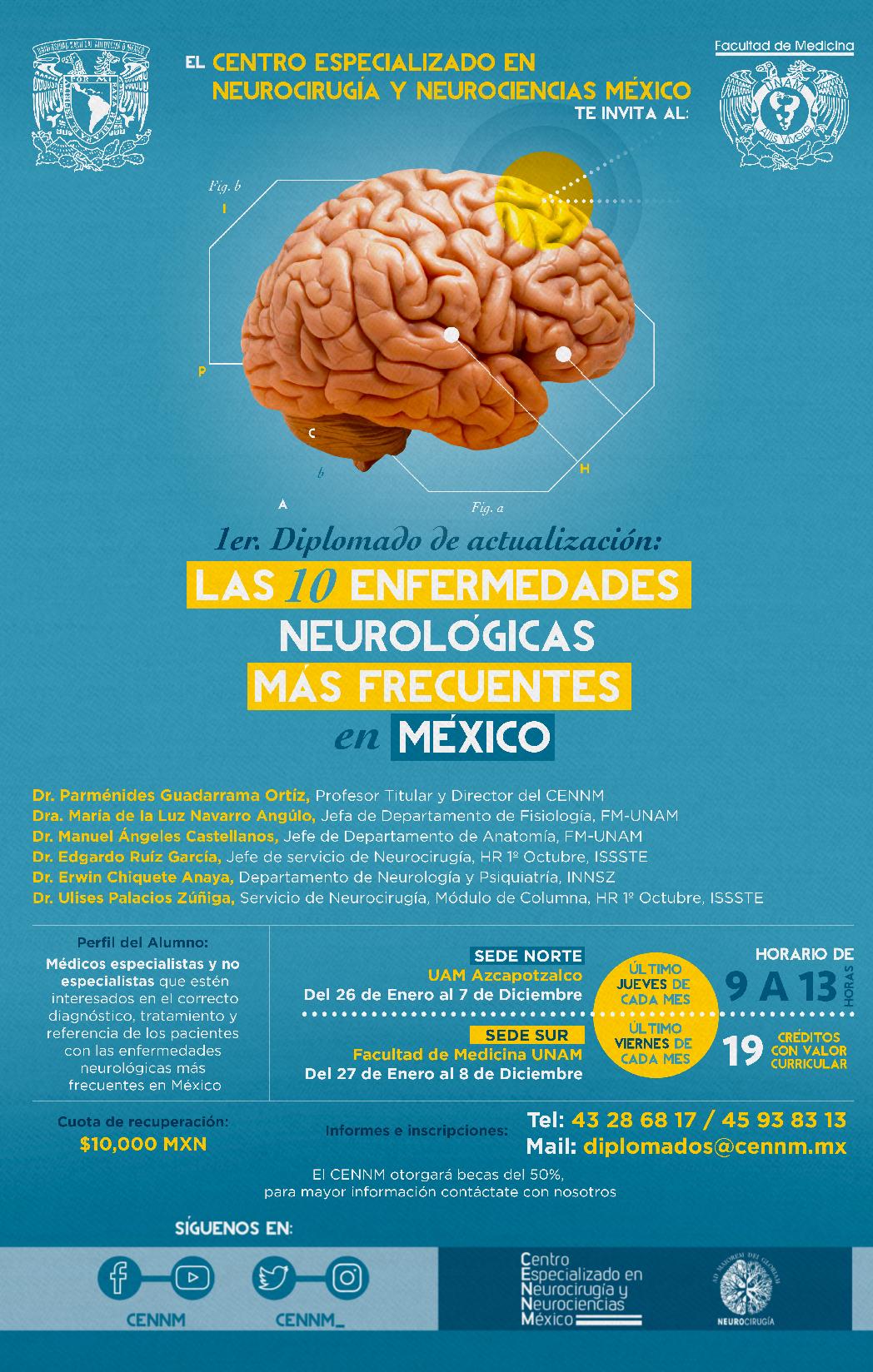 1er Diplomado de actualización: Las 10 Enfermedades Neurológicas más ...
