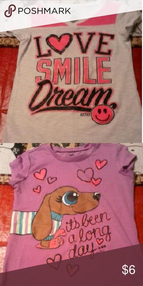 T-shirt bundle Both same brand & sz Justice Shirts & Tops Tees - Short Sleeve