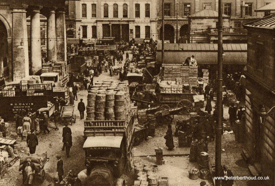 Early morning in Covent Garden, circa 1926. via