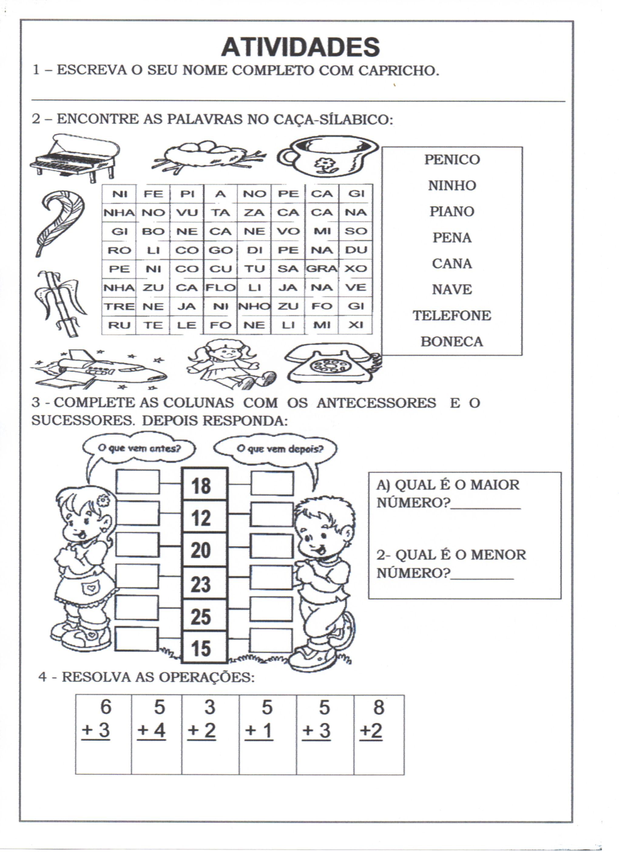 Caca Silabico E Antecessores E Sucessores Jpg 2040 2807