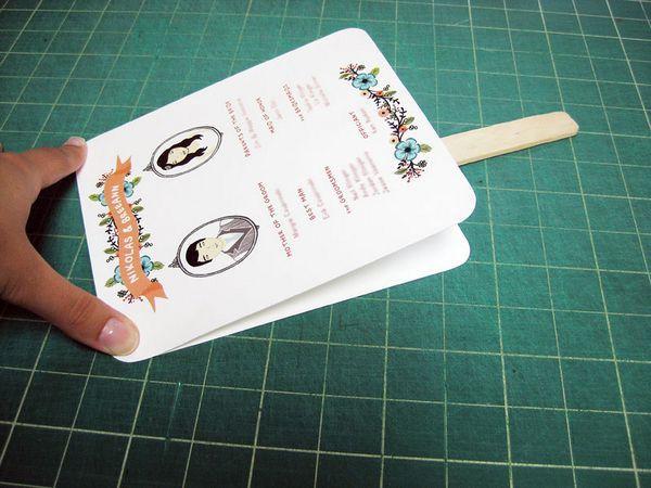 Diy Paddle Fan Wedding Programs Diy Paper Art Crafts