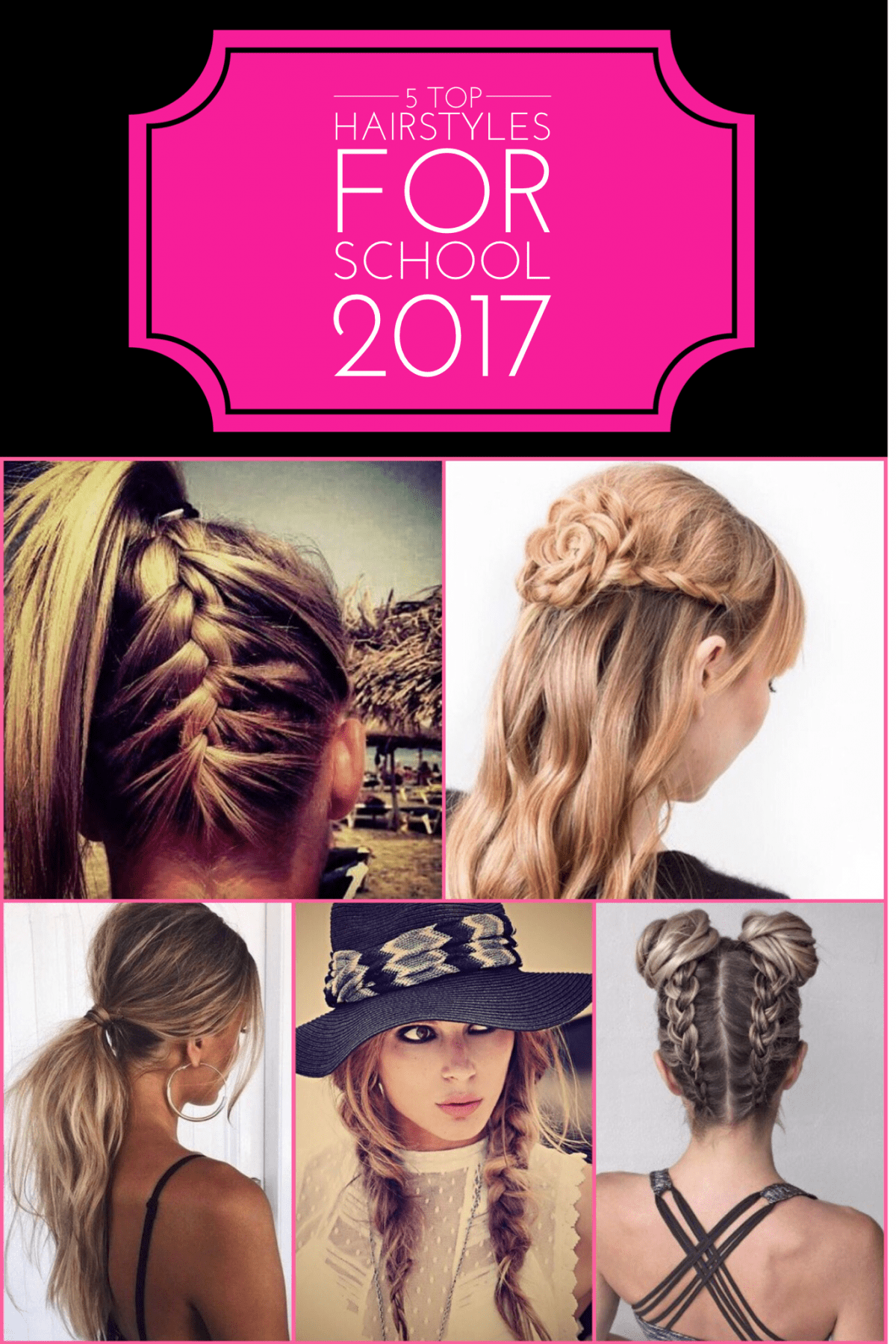 10 Ridiculously Easy Hairstyles For School 2020 (Tutorials Included)