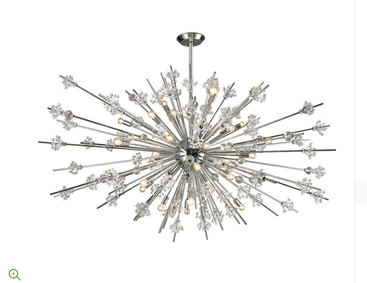 Starburst Collection 31-Light Chandelier in Polished Chrome
