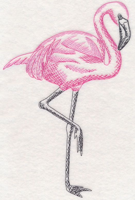 Free Embroidery Design Tropical Flamingo Free Embroidery Designs