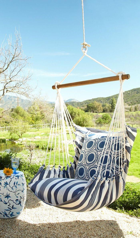 Chaise Hamac Pour Profiter Des Beaux Jours Dans Votre Jardin Chaises Pivotantes Hamac Diy Hamac
