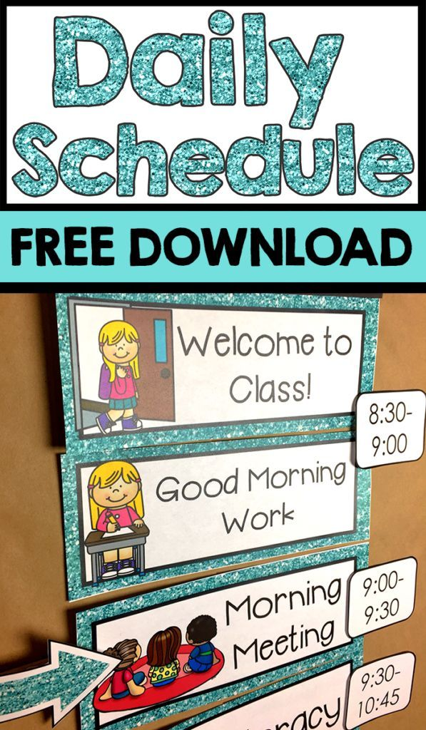 setting up a kindergarten schedule