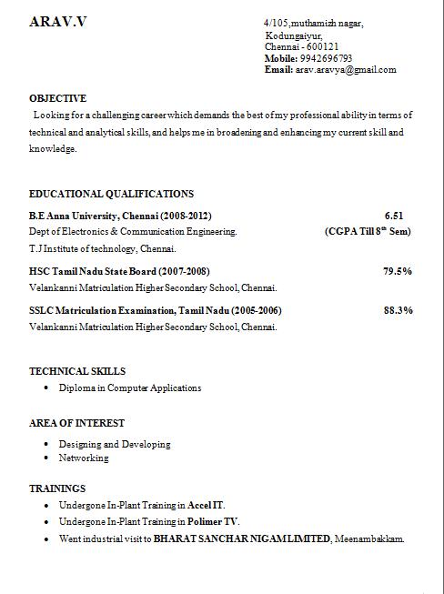 resume format for engineering students httpwwwjobresumewebsite - Resume Examples For University Students