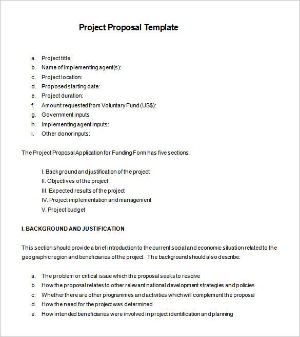 Project Proposal Template - 43 Professional Project Proposal
