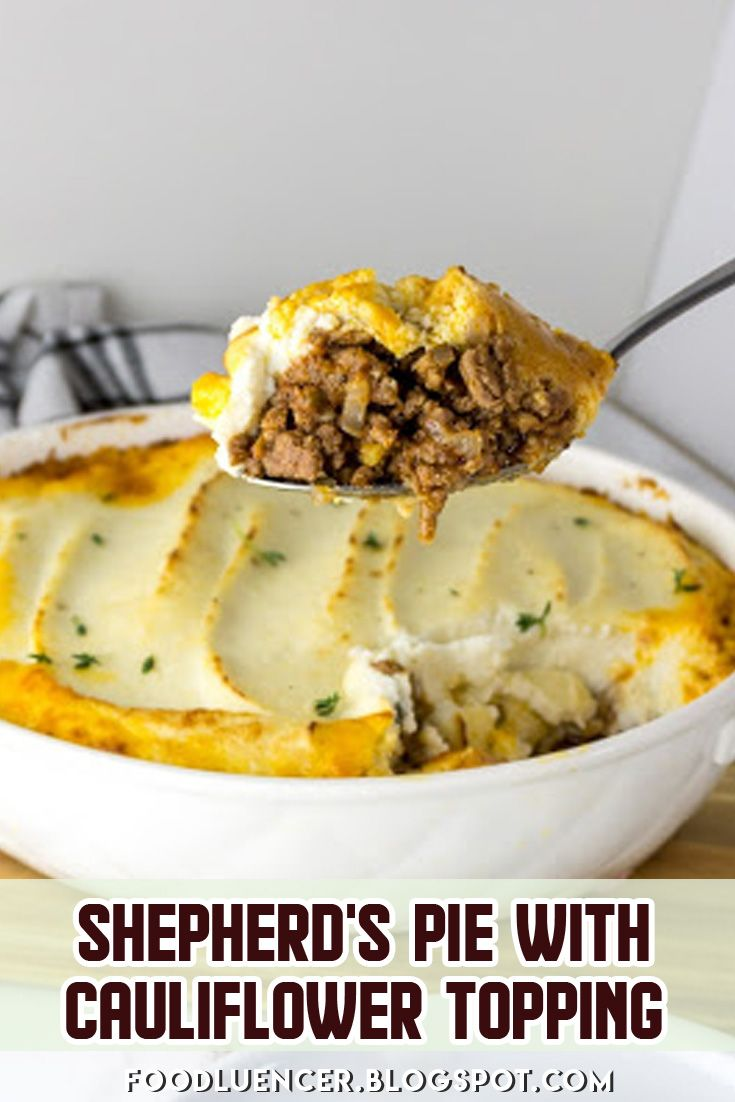 Shepherd S Pie With Cauliflower Topping Recipe Recipes Easy Pie Recipes Cooking Recipes