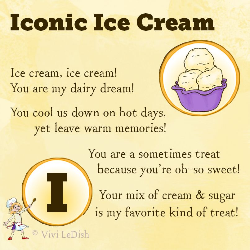 Vivi LeDish's Ice Cream Poem For Kids! | Free For Teachers ...