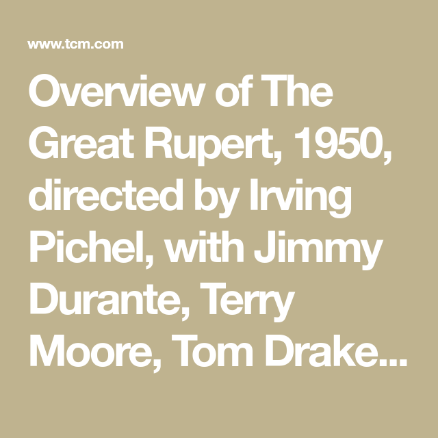 Watch The Great Rupert Full-Movie Streaming