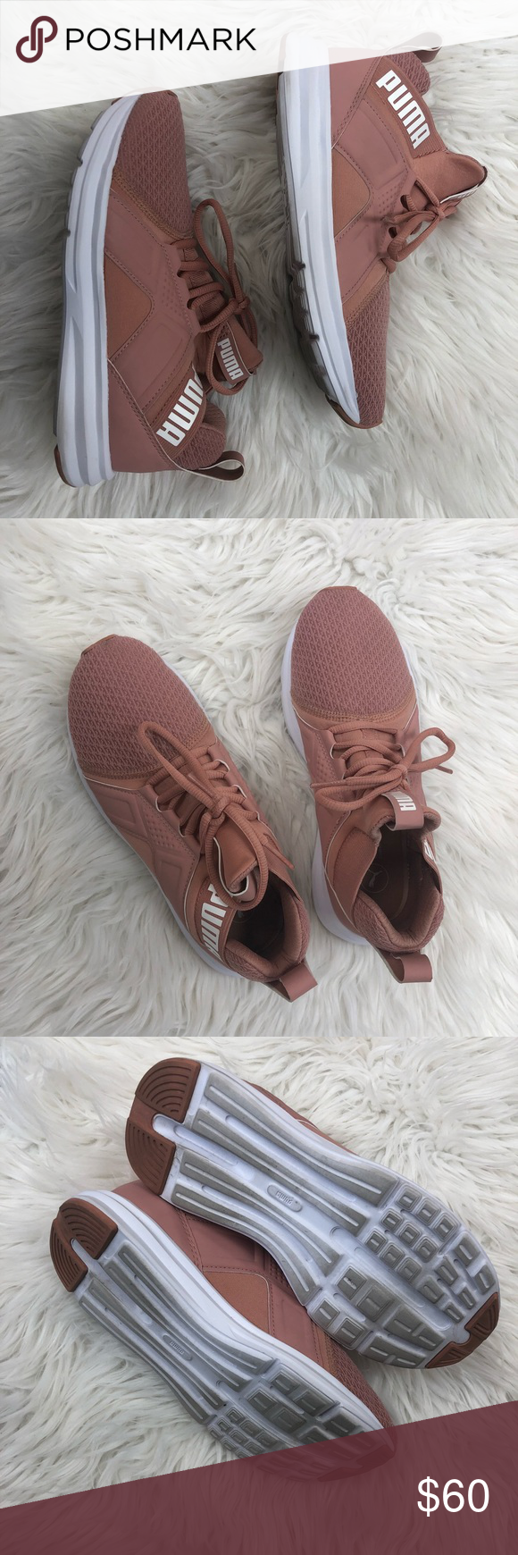 118788f8db1 Puma Women s Zenvo Sneaker sz 6 Rose colored puma sneakers. Size 6. Price  is negotiable. Use offer button Puma Shoes Athletic Shoes