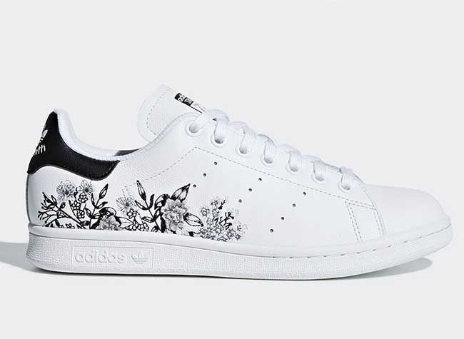 Smiths floral Adidas' sneakers Stan Embroidery Embroidered Floral Delicate adidas xTqUzO