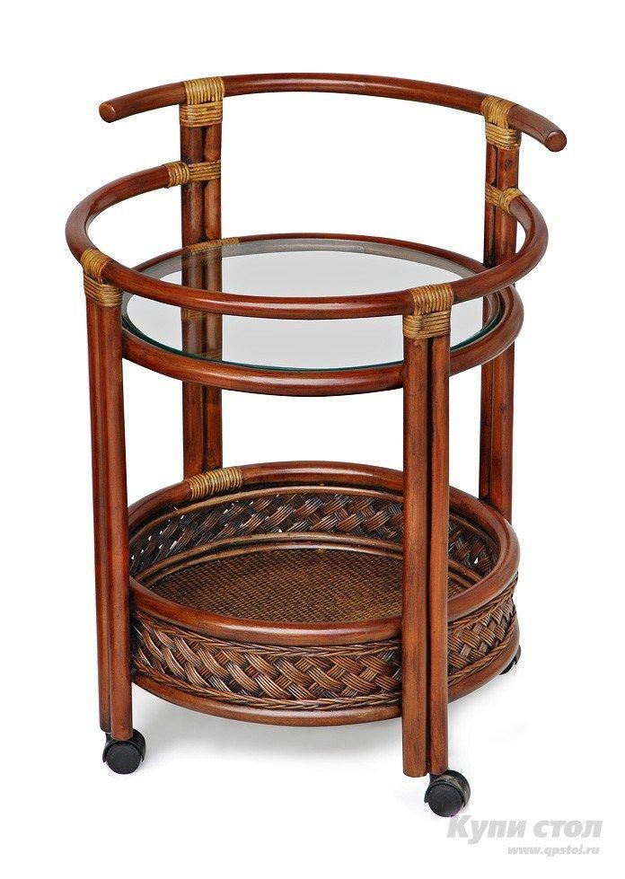 Плетеный стол Tetchair ANDREA Античный орех (ротанг) | Каталог товаров по сниженной цене.