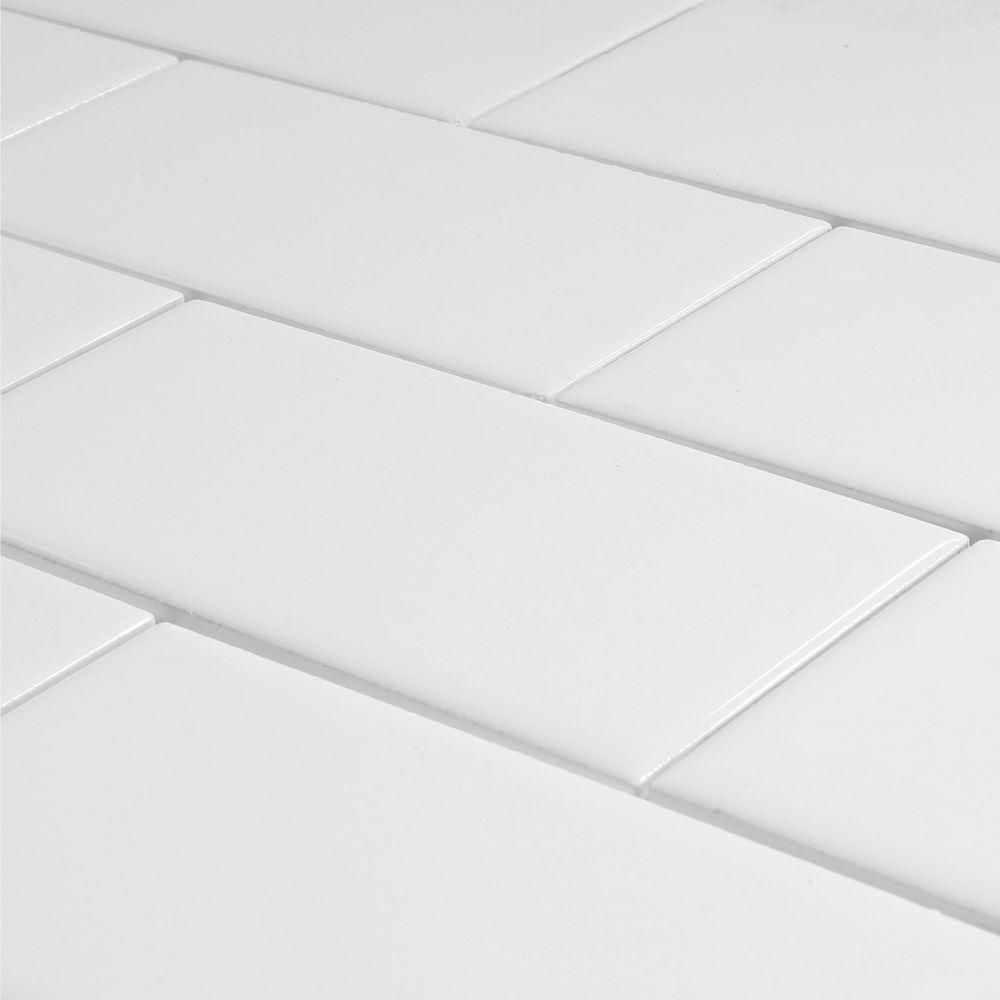 Daltile Rittenhouse Square Arctic White 3 In X 6 In Ceramic Modular Wall Tile 12 5 Sq Ft Case Daltile Wall Tiles Modular Walls