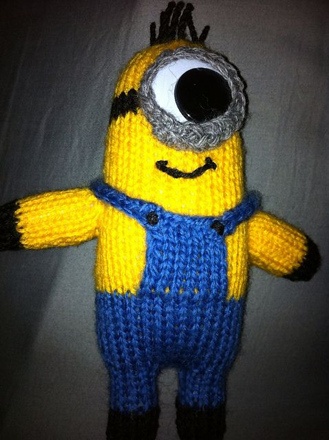 Despicable Me Minion Toy Pattern By The Knit Guru Knit Love