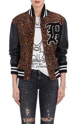 450d618d28b5 R13 Calf Hair Varsity Jacket. #r13 #cloth #jacket Leopard Print Jacket,