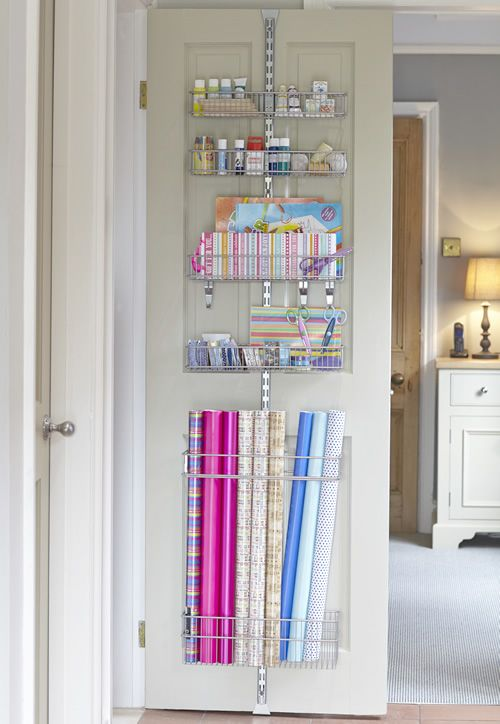 7 More Ways to Get Organized Using Doors. Gift Wrap ... & 7 More Ways to Get Organized Using Doors | Room closet Wrapping ...