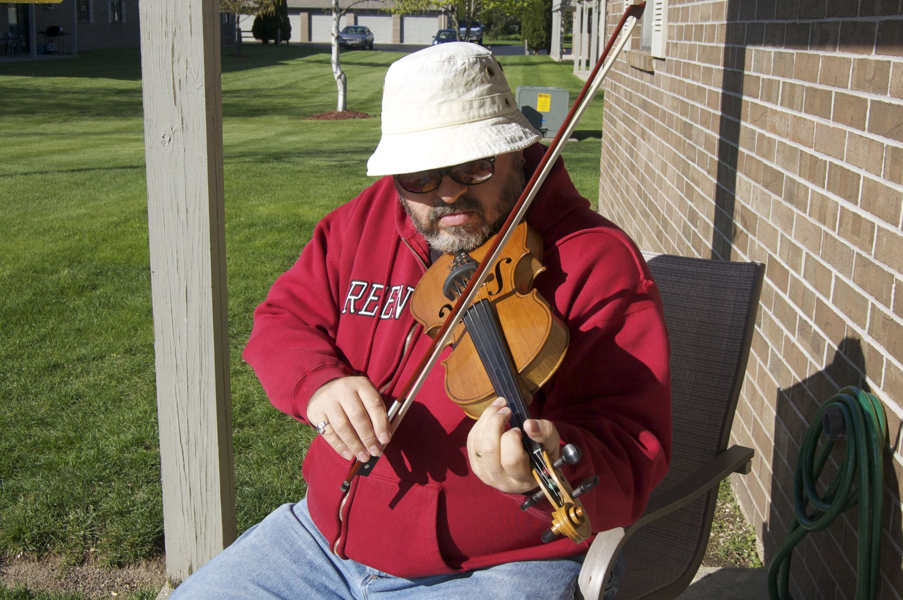 playing grandpa 39 s fiddle on the back porch music bluegrass music banjo music instruments. Black Bedroom Furniture Sets. Home Design Ideas