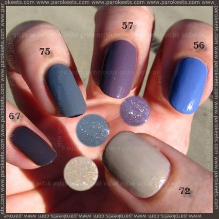Alessandro nail polish: 67, 75, 57, 56, 72 swatches