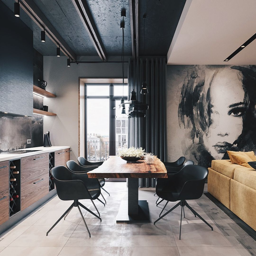 Loft interior design ideas on instagram   apartment designed by leonid sizikov also barfly series norr simple furniture  in pinterest rh