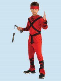 Rubies Red Ninja Childs Costume Small
