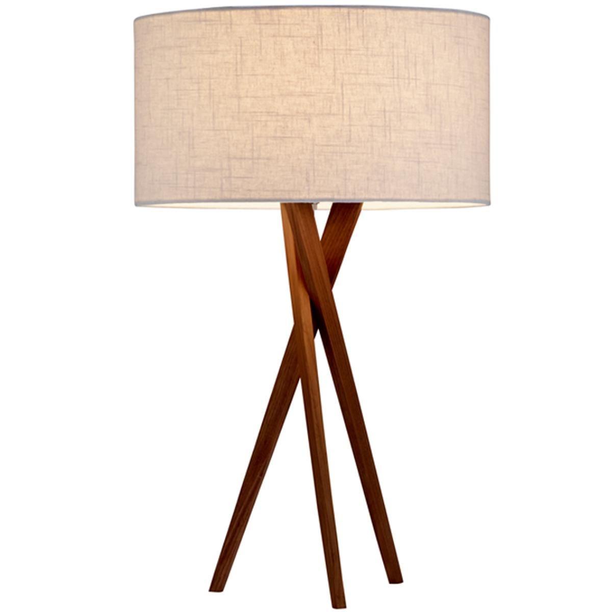 Sleek Wood Modern Tripod Table Lamp Shades Of Light