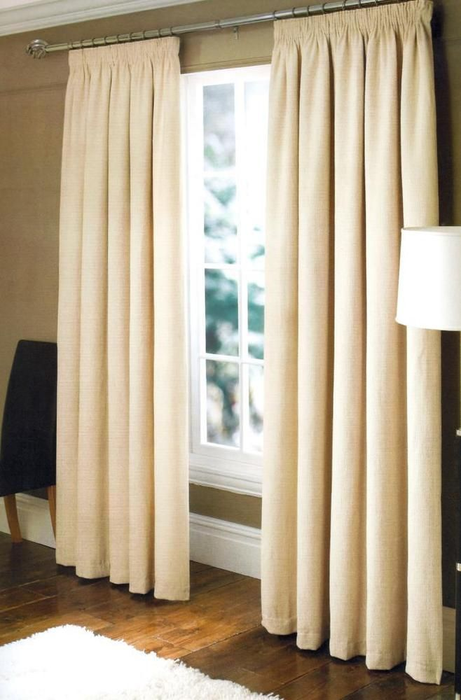 Zen Home Ready Made Pencil Pleat Lined Waffle Curtains 64\