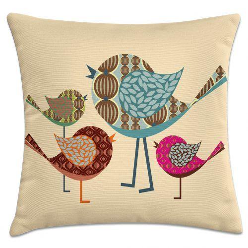 7ec3077fa Capa de almofada pássaro e filhotes – Kombigode Store