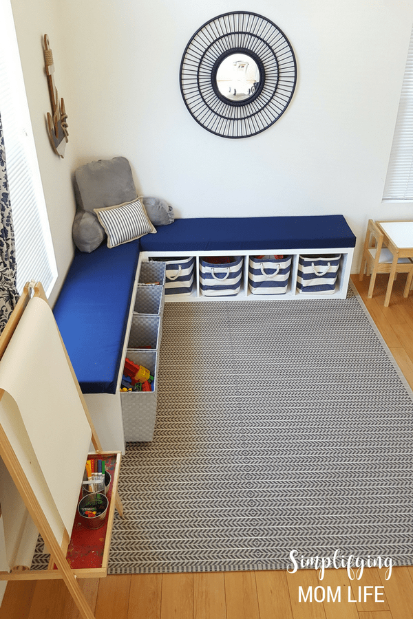 Ikea Kallax Hack Storage Benches For A Playroom Diy Storage