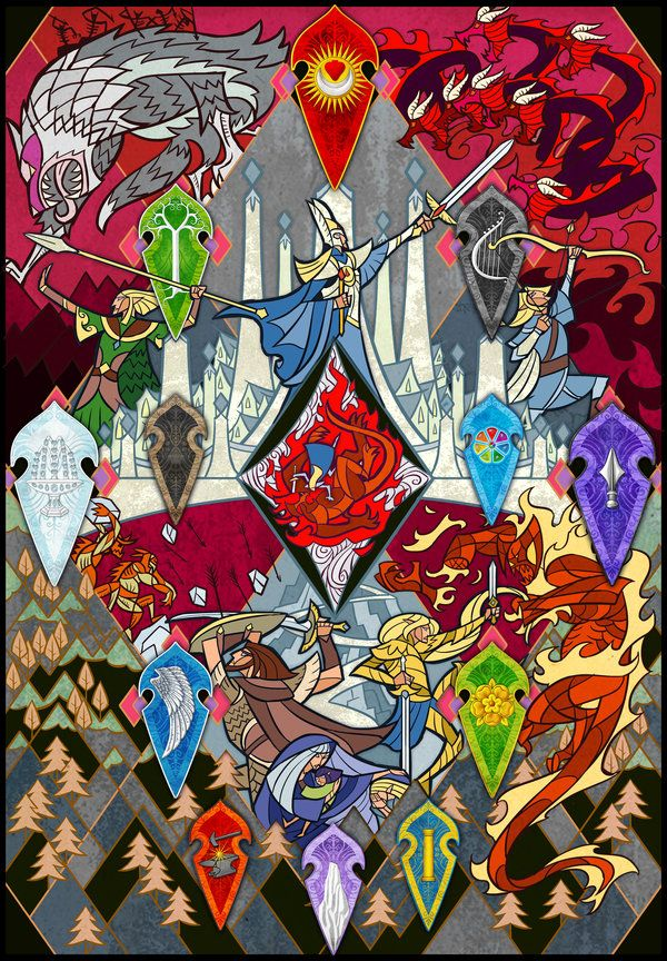 The Fall Of Gondolin By Jian Guo And Aglargon Middle Earth Art Lotr Art Fantasy Concept Art