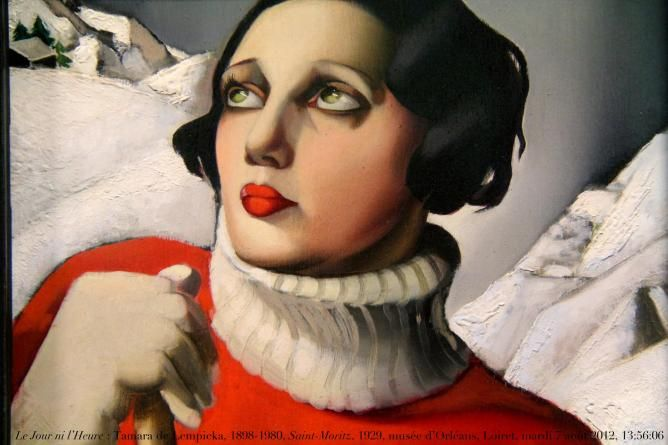 """Tamara Łempicka, commonly known as Tamara de Lempicka (16 May 1898 – 18 March 1980) was a Polish Art Deco painter and """"the first woman artist to be a glamour star""""."""
