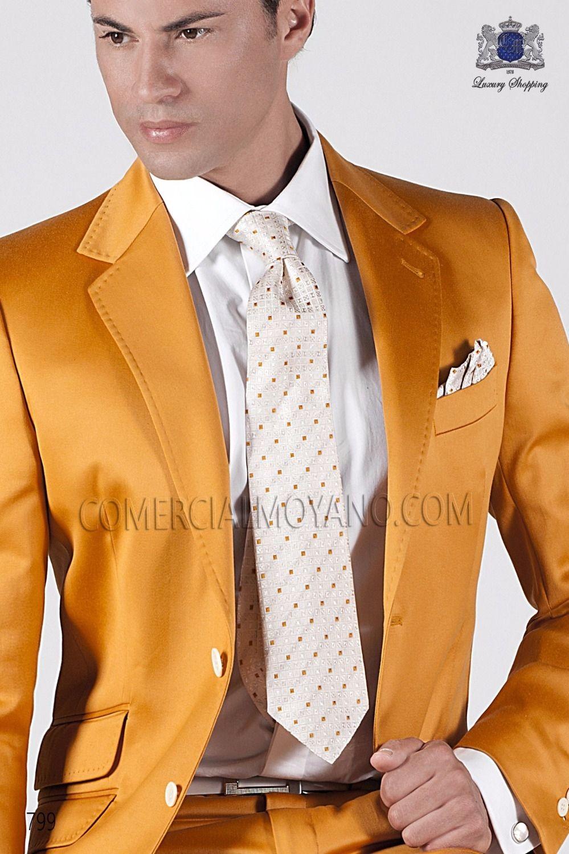 2017 Latest Coat Pant Designs Italian Gold Satin Men Suit Prom ...