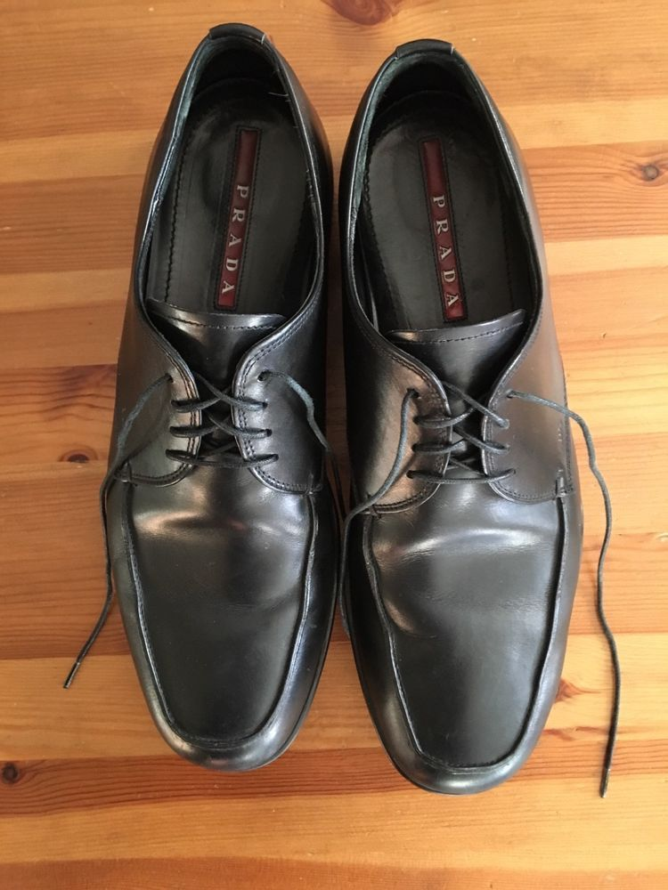 3bf4dab86d7143 Black used prada 7.5 mens oxfords  fashion  clothing  shoes  accessories   mensshoes  casualshoes (ebay link)