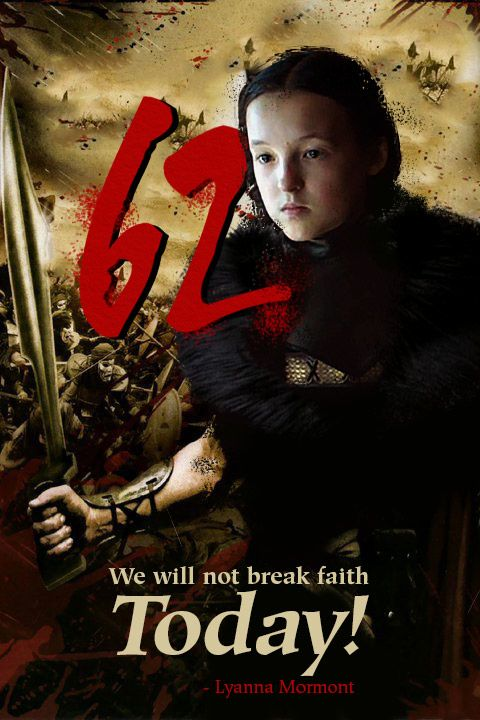 This is Bear Island! We will not break faith today!- Lyanna Mormont h/t u/boxslide