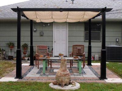 How to Build a Small Backyard Patio & portable pergola sun shade - Google Search | backyards | Pinterest ...