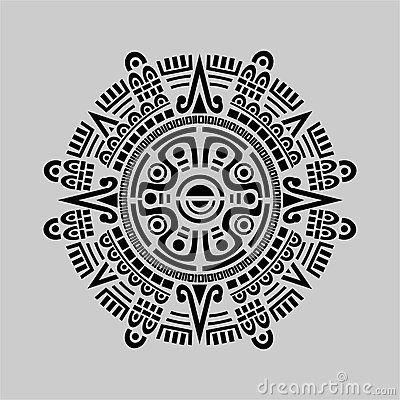 Calendario Azteca Vectores.Vector Maya Del Calendario Mesoamerica En 2019 Tatuajes