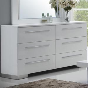 Sapphire Dresser In High Gloss White Nebraska Furniture Mart White Bed Frame New Classic Furniture Furniture