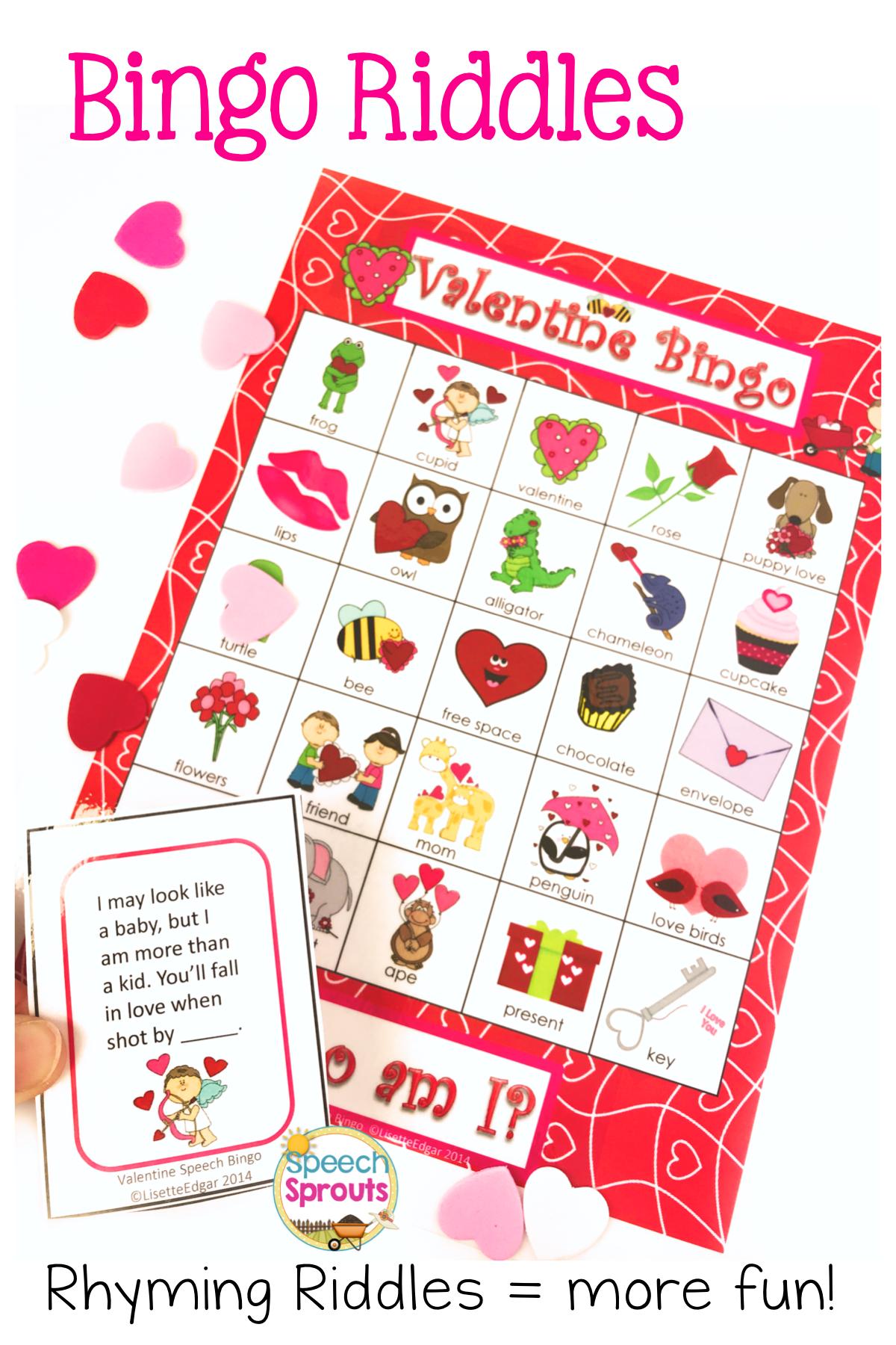 Valentine S Day Bingo Riddles Game