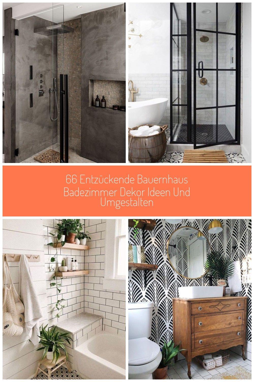 Badezimmerrenovierung Modernes Vintage Badezimmer Farmspule Schwarz Weisses In 2020 Modern Vintage Bathroom Home Decor Decor